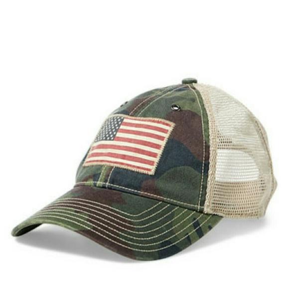 c5caf240e9a Polo Ralph Lauren mesh trucker hat